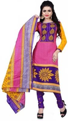 Heena,s collection Cotton Self Design Salwar Suit Dupatta Material