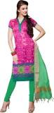 Khoobee Silk Self Design, Printed Salwar...