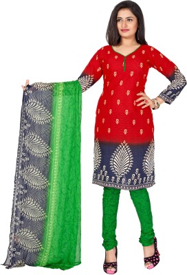 Fabcart Cotton Printed Semi-stitched Salwar Suit Dupatta Material