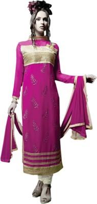 Viva N Diva Georgette Embroidered Salwar Suit Dupatta Material