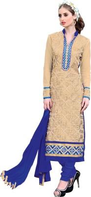 Viva N Diva Chanderi Embroidered Salwar Suit Dupatta Material