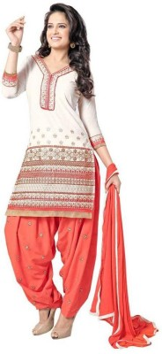 Frenzy Fashion Cotton Embroidered Salwar Suit Dupatta Material