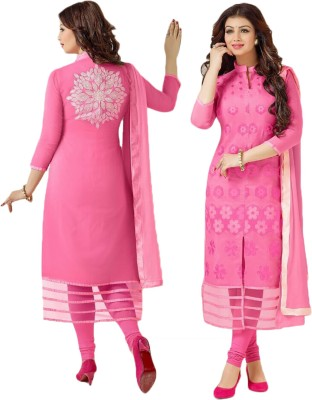 Laazree Cotton Embroidered Dress/Top Material