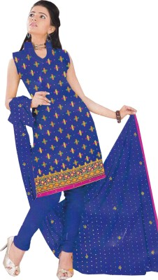 Yogideal Cotton Embroidered Salwar Suit Dupatta Material