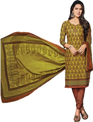 Prisha Cotton Floral Print Salwar Suit Dupatta Material
