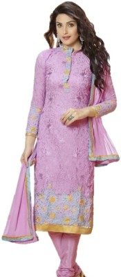 Style Vista Georgette Embroidered Semi-stitched Salwar Suit Dupatta Material
