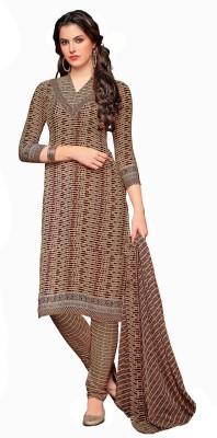 Fabcart Crepe Printed Semi-stitched Salwar Suit Dupatta Material