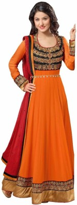 Royal Ethics Georgette Embroidered Salwar Suit Dupatta Material