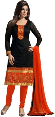 HITESH ENTERPRISE Chanderi Embroidered Salwar Suit Dupatta Material