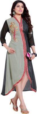 Vistara Lifestyle Georgette Embroidered Kurti Fabric