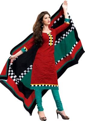 Drapes Cotton Printed Salwar Suit Dupatta Material(Un-stitched) at flipkart