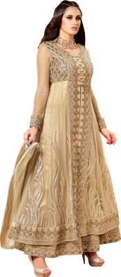 Hitansh Fashion Net, Silk Embroidered Semi-stitched Salwar Suit Dupatta Material
