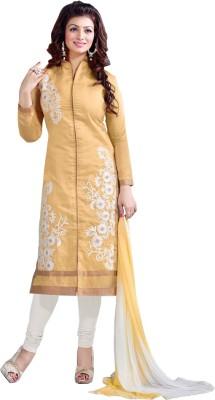 Eleven Creation Chanderi Embroidered Salwar Suit Dupatta Material