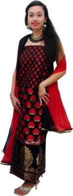 Ethnic Creations Silk Self Design Salwar Suit Dupatta Material