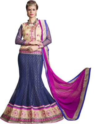 Style Mania Silk Embroidered Lehenga Choli Material