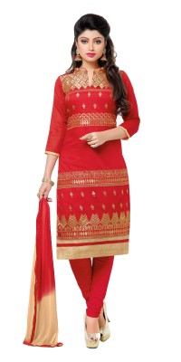 Stella Creation Jute Embroidered Semi-stitched Salwar Suit Dupatta Material