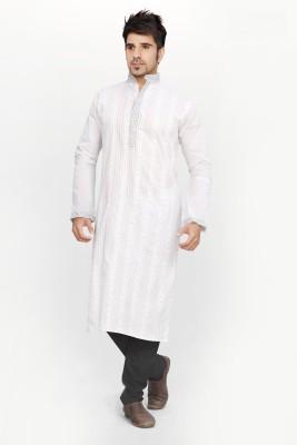 Ethnysis Cotton Embroidered Kurti Fabric