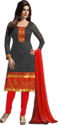 Kabeer Creation Chanderi Embroidered Salwar Suit Dupatta Material