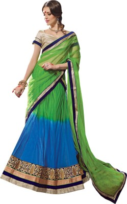 Inddus Net, Satin Embellished, Embroidered Lehenga Choli Material