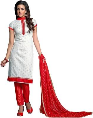 Sunrise International Cotton Embroidered Semi-stitched Salwar Suit Dupatta Material