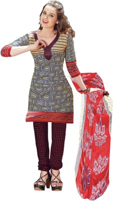Khushali Cotton Self Design, Printed Salwar Suit Dupatta Material