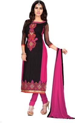Dezinestudio Chanderi Embellished Semi-stitched Salwar Suit Dupatta Material