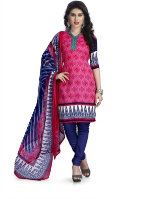 Vaamsi Polyester Printed Salwar Suit Material(Un-stitched)