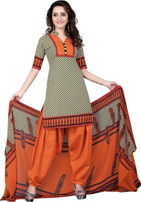 The Four Hundred Cotton Polyester Blend Printed Salwar Suit Dupatta Material