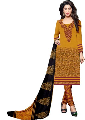 Frenzy Fashion Crepe Embroidered Salwar Suit Dupatta Material