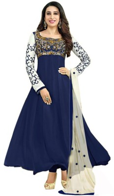 Panghatt Georgette Embroidered Semi-stitched Salwar Suit Dupatta Material