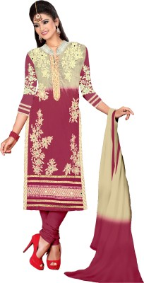Khushali Chanderi Self Design, Embroidered Salwar Suit Dupatta Material