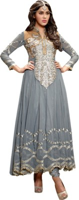 Style Value Georgette Embroidered Semi-stitched Salwar Suit Dupatta Material