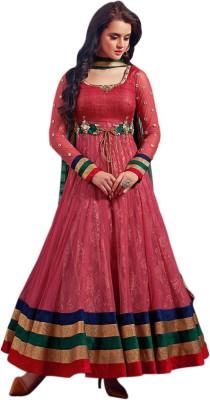 Li Te Ra Net Embroidered Semi-stitched Salwar Suit Dupatta Material