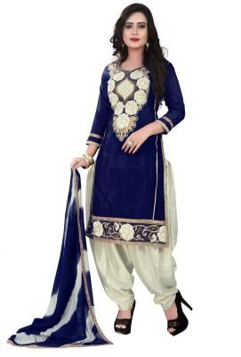 RajLaxmi Chanderi Embroidered Salwar Suit Dupatta Material