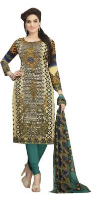 Nazaquat Crepe Printed Semi-stitched Salwar Suit Dupatta Material