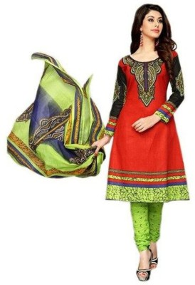 Heena Fashion Cotton Printed Salwar Suit Dupatta Material