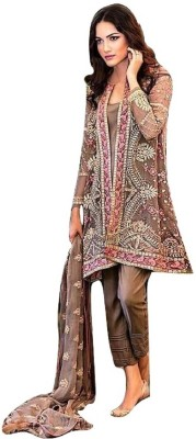 Shop Well Soon Georgette Embroidered Salwar Suit Dupatta Material