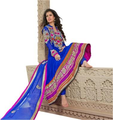 Hypnotex Georgette Self Design Salwar Suit Dupatta Material