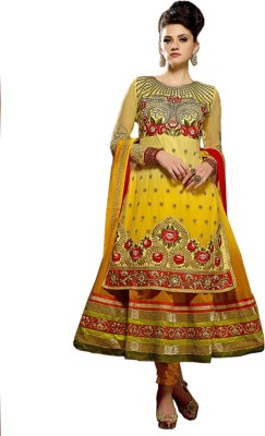 Fashion India Net Embroidered Salwar Suit Dupatta Material