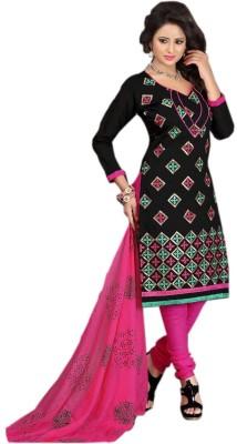 Panku Chanderi Embroidered Salwar Suit Dupatta Material