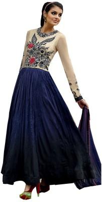 LifeStyle Megamart Crepe Embroidered Salwar Suit Dupatta Material