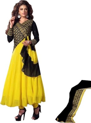 JMDtrade Georgette, Satin, Georgette Embroidered Semi-stitched Salwar Suit Dupatta Material