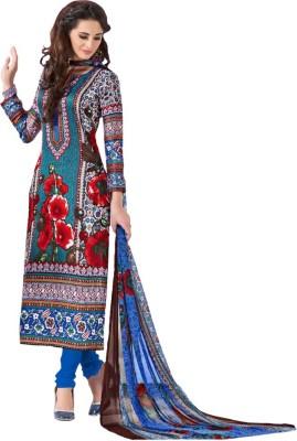 GoAavaran Rayon Floral Print Salwar Suit Dupatta Material