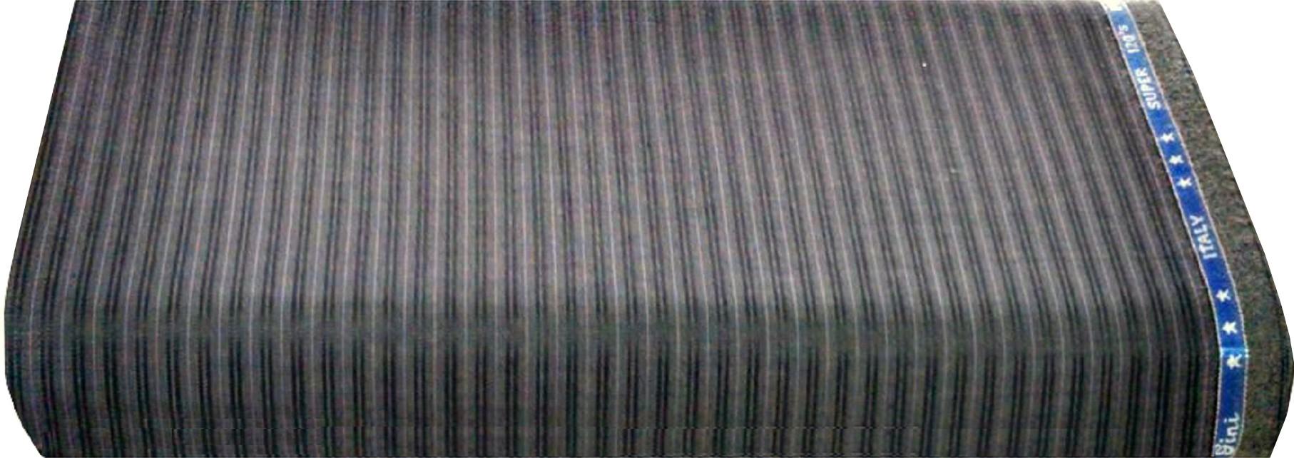 Ivo Gini Wool Striped Salwar Suit Dupatta Material(Un-stitched)