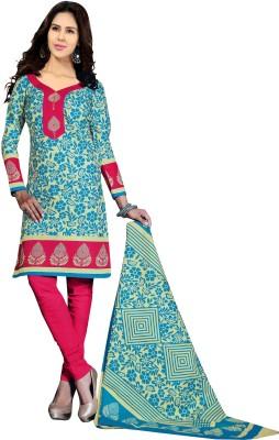 Jay Ganapati Cotton Printed Salwar Suit Dupatta Material