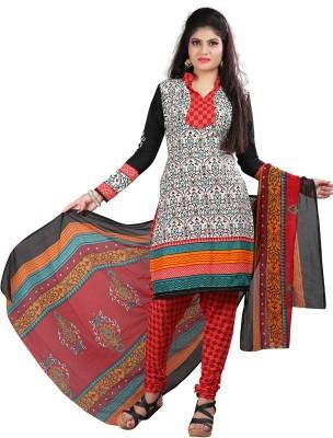 Textilebaba Cotton Printed Salwar Suit Dupatta Material