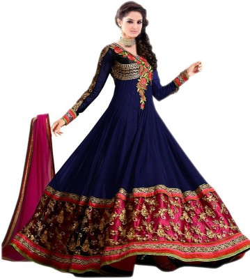 Aahira Georgette Self Design Semi-stitched Salwar Suit Dupatta Material