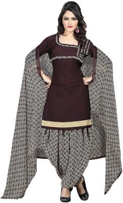 Jevi Prints Synthetic Printed Salwar Suit Dupatta Material