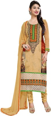 Nira Georgette Embroidered Dress/Top Material