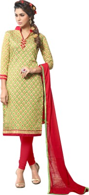 MOHITSCOLLECTIONS Chanderi Embellished Salwar Suit Material